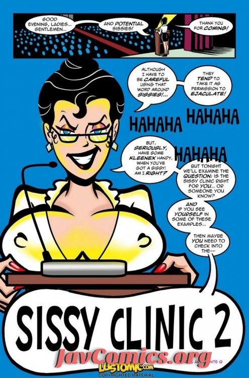 Sissy Clinic 2 The Seminar - Lustomic Comic En